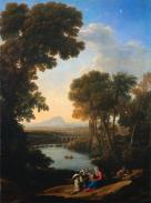 Claude Lorrain; Rest on the Flight into Egypt; early 1640s; oil on canvas; The Cleveland Museum of Art