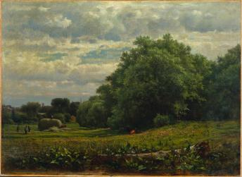 George Inness; Harvest Time; 1861; oil on canvas; 56.5 x 76.8 cm; The Cleveland Museum of Art
