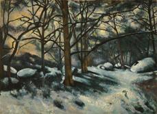 Paul Cézanne; Melting Snow, Fontainbleau; 1879-80; oil on canvas; 73.5 x 100.7 cm; The Museum of Modern Art