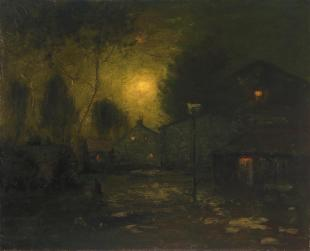 George Inness; Moonlight; 1893; oil on canvas; 55.2 x 67.9 cm; fine Arts Museums of San Francisco