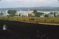 Fitz Hugh Lane; View of Castine from Fort George Bottom Left; 1856; oil on canvas; Joslyn Art Museum