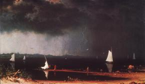 Martin Johnson Heade; Thunderstorm over Narraganset Bay; 1868; oil on canvas; Amon Carter Museum of Western Art