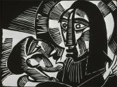 Karl Schmidt-Rottluff; Christ and Judas; 1918; woodcut