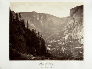 Carlton E. Watkins; Yosemite Valley from Glacier Point; c.1876; albumen silver print from glass negative; The Metropolitan Museum of Fine Art