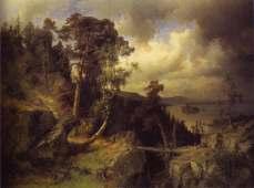 Alfred Wahlberg, Swedish Landscape, a View from Kolmarden, 1866