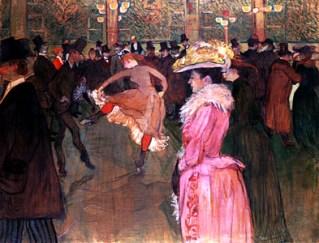 At the Moulin Rouge The Dance, oil on canvas by Henri de ToulouseLautrec, 1890