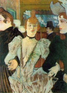 La Goulue Arriving at the Moulin Rouge with Two Women 1892