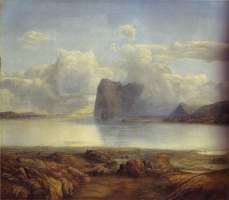 Lars Hertervig, View from Borgoya, 1867