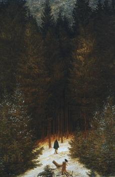 Caspar David Friedrich; Chasseur in the Forest; 1813