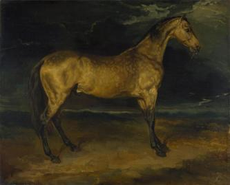Théodore Géricault; A Horse Frightened by Lightning; 1813-14; oil on canvas; 48.9 x 60.3 cm; The National Gallery, London