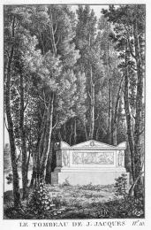 J. Merigot; Le tombeau de J. Jacques; 1788
