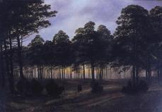 Caspar David Friedrich; Four Times of Day: Evening; 1820-5; oil on canvas; 22.3 x 31 cm; Niedersächsisches Landesmuseum Hannover