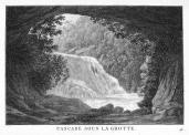 J. Merigot; Cascade Sous La Grotte; 1788