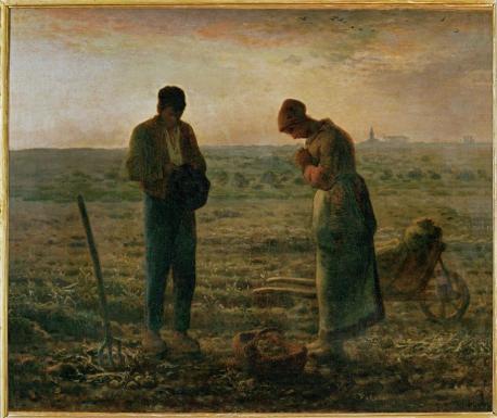 Jean-François Millet; The Angelus; 1857-9; oil on canvas; Musée d'Orsay