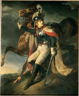 Théodore Géricault; Wounded Dragon Leaving Cross Fire; 1814; oil on canvas; 3.58 x 2.94 m; Musée du Louvre