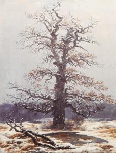 Caspar David Friedrich; Oak Tree in the Snow; 1806-19; oil on canvas; 44 x 34 cm