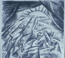 Otto Dix; Finale (Wounded in the Evening); 1917; Staatliche Kunstsammlungen Dresden