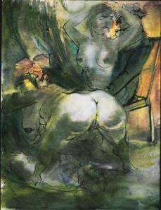 Otto Dix; Harbor Brothel; 1926; watercolor; 65 x 48 cm