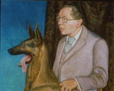 Otto Dix; Hugo Erfurth with Dog; 1926; oil on canvas; 80 x 100 cm