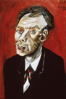 Otto Dix; Portrait of Max John; 1920; 63 x 43 cm
