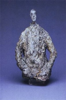 Alberto Giacometti; Diego in a Cloak; painted bronze