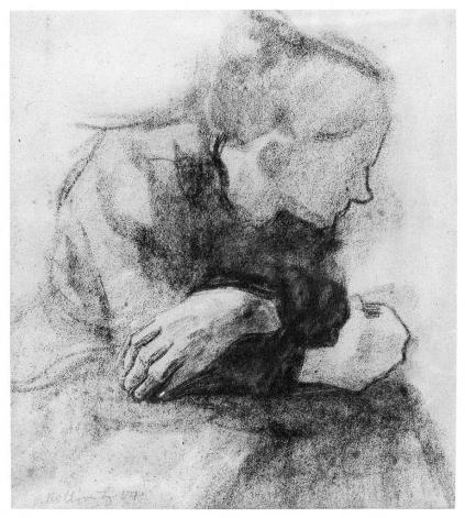 Kollwitz_SeatedWorkingWoman_1904