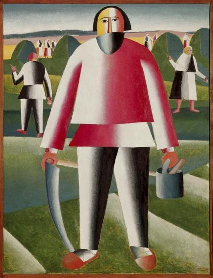 Kazimir Malevich; Hay Making; painting; Tretyakov Gallery, Moscow