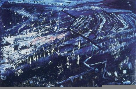 Anselm Kiefer; Et la Terre Tremble; 1982; oil on canvas with straw; 73.75 x 112.5 inches