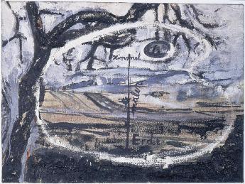 Anselm Kiefer; Heaven - Earth (Himmel - Erde); 1974; oil on canvas; 70 x 95 cm