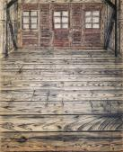 Anselm Kiefer; Wooden Room; 1972; charcoal and oil on burlap; 299.7 x 219.7 cm; The Museum of Modern Art