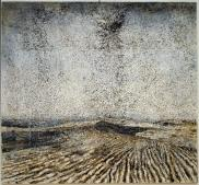 Anselm Kiefer; Die Sechste Posaune (The Sixth Trumpet); 1996; emulsion, acrylic, shellac, and sunflower seeds on canvas; 520.07 x 560.07 cm; San Francisco Museum of Modern Art