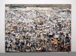 Anselm Kiefer; Bäumen liegt am Meer; 1996; acrylic on canvas; 74.75 x 102 inches