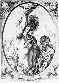Hendrik Goltzius; Bacchus; 234 x 177 mm