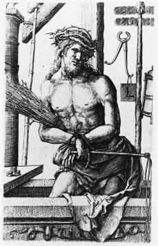 Lucas van Leyden; Man of Sorrows; 1517; engraving; 117 x 72 mm