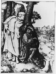 Lucas van Leyden; Susana and the Elders; 1508; engraving; 198 x 146 mm