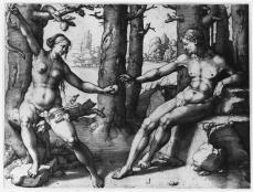 Lucas van Leyden; The Fall of Man; 1530; engraving; 189 x 247 mm