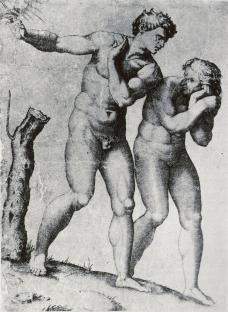 Michelangelo Buonarroti; Expulsion from Paradise; engraving