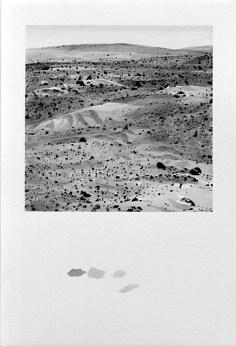 "David Clarkson Dunes Near Columbia Hills, Mars ink on paper 2005 22"" x 15"""