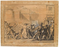 """David's study for his painting called """"The Intervention of the Sabine Women"""