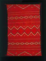 Navajo, Hubbell revival serape or rug, Early Rug Period, c.1896, Wool; Dye, Peabody Museum of Archaeology and Ethnology