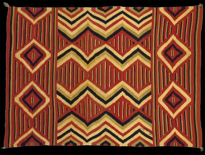 Navajo, Wearing Blanket, 1860-1870, Wool, H. 69 in. (1075.3 cm), The Metropolitan Museum of Art