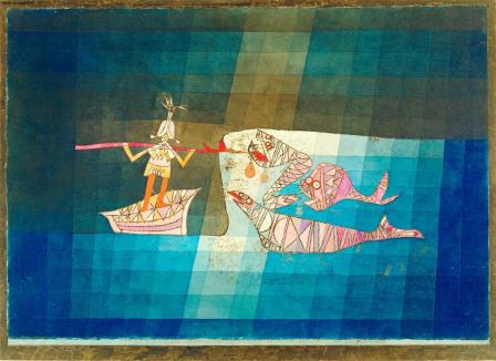 """Battle Scene from the Comic Opera """"The Seafarer"""" Work Type painting Date 1923 Material colored sheet with watercolor and oil"""