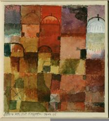 Red and White Domes Work Type painting Date 1914-1915