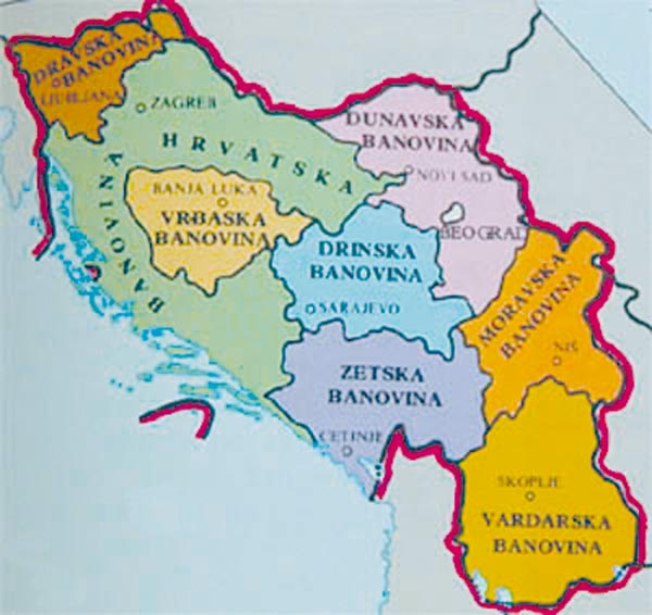 manovina Hrvatska Η Βαρντάρσκα Μπανόβινα σε σπάνιους Χάρτες, Γραμματόσημα και Διπλώματα της Γιουγκοσλαβίας