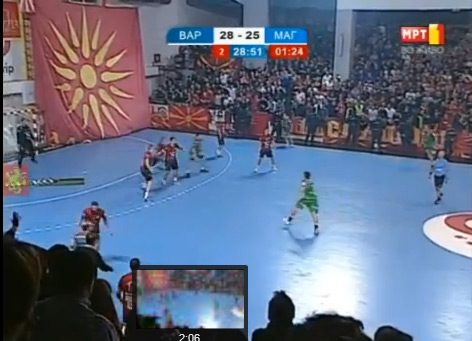 vergina star pano Outrageous Provocation: Irredentist Banner exhibited by FYROMs fans at International Handball match