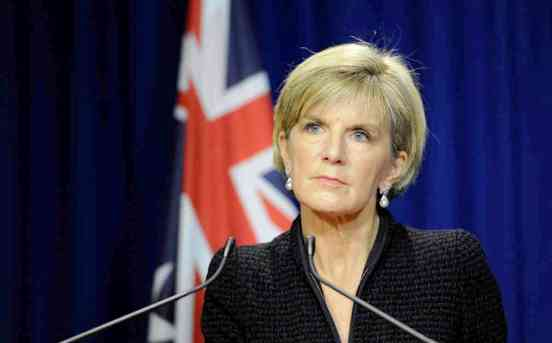 JULIE BISHOP TERROR PRESSER MELBOURNE