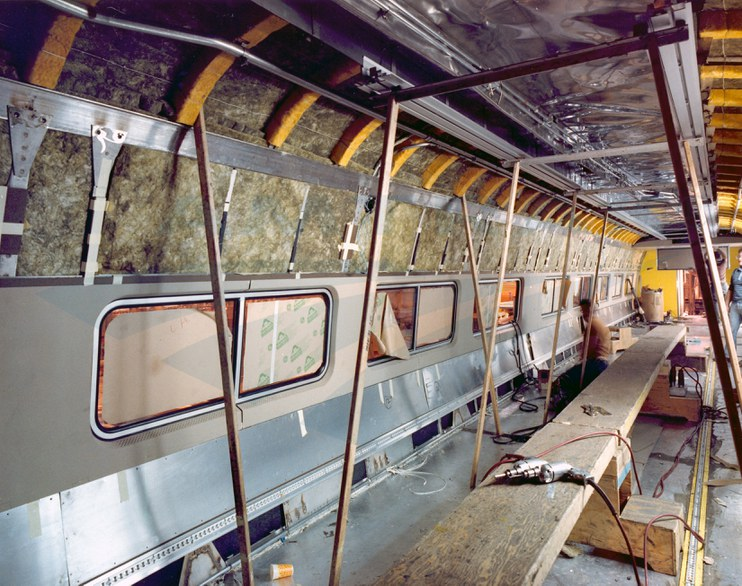 Amfleet II Coach Under Construction 1980s Amtrak