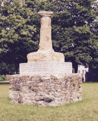 Charney village cross and War Memorial