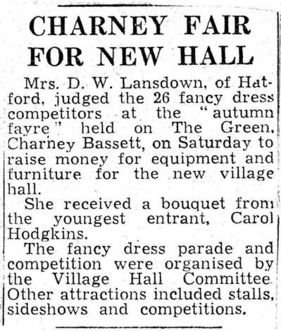 Fair for new hall
