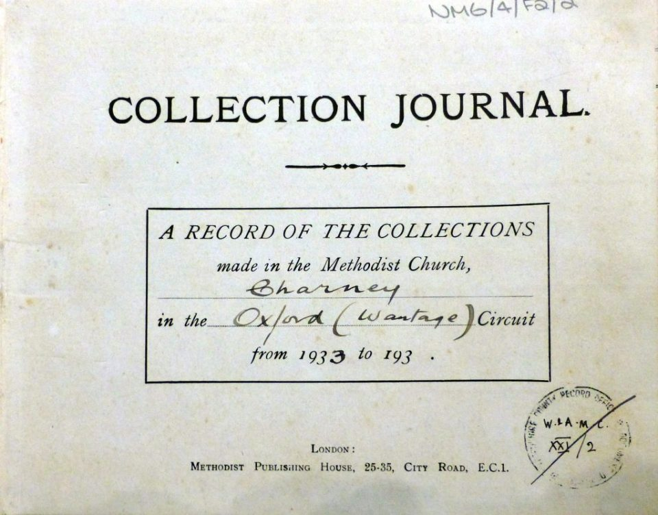Collection Journal from 1917